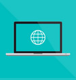 macbook pro flat laptop and a internet vector image vector image
