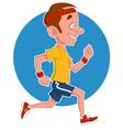 man runs vector image vector image