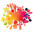 Multifruit juice vector image vector image