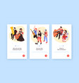 musicians isometric banners set vector image vector image