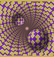 optical balls are moving in mottled hole