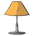 orange lamp on white background vector image vector image