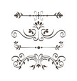ornamental borders design vector image vector image