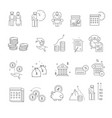 pension and retirement isolated icons elderly vector image