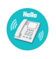 Phone in flat design Landline phone vector image vector image