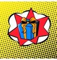 pop art gift vector image vector image