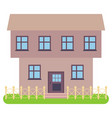 private house on a white background vector image vector image