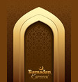 ramadan kareem greeting card for ramadan vector image vector image