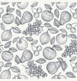retro pattern with fruits vector image vector image