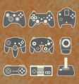 Retro Video Game Controllers vector image vector image