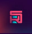 s and k logo monogram or logotype sk or ks vector image