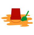 sandbox for kids on white background vector image