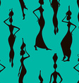 Seamless pattern of African women vector image