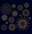 set golden firework salute vector image vector image