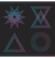 Set of geometric color hipster shapes55465 vector image