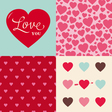 set of heart pattern background for valentines day vector image vector image