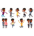 set of people during leisure activity vector image vector image