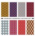 set seamless decorative geometric shapes vector image