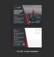 simple corporate business postcard template design vector image vector image