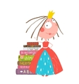 Smart Princess Beautiful Girl Getting Education vector image