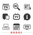 smart tv mode icon retro television symbol vector image