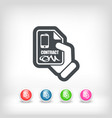 smartphone contract icon vector image