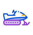 snowmobile icon outline vector image vector image