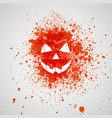splashed pumpkin face vector image