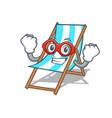 super hero beach chair character cartoon vector image