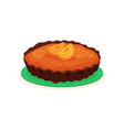 tasty homemade pie with jam and slices of vector image vector image