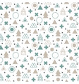 textile tribal background geometric scandinavian vector image