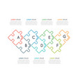 thin line business infographic template vector image vector image