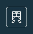 train outline symbol premium quality isolated vector image vector image