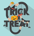 Trick or Treat Typography Design vector image vector image