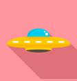 ufo cosmic ship icon flat style vector image vector image
