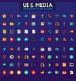 ui and multimedia big icon set vector image vector image