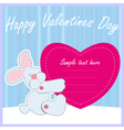 Valentine Greeting Card With Rabbit vector image vector image