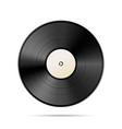 vintage black vinyl disc template on white vector image