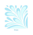 water drop on white background stylized image of vector image vector image
