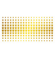 weight gold halftone matrix vector image vector image