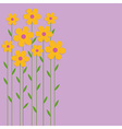 Background yellow flowers vector image