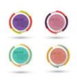 circle badge label design logo vintage round vector image
