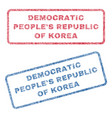 democratic people s republic of korea textile vector image