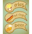 food labels retro vector image
