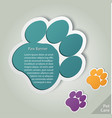 paw banner animal pet footprint vector image