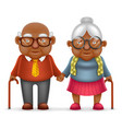 afro american cute smile happy elderly couple old vector image vector image