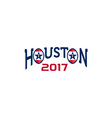 American Football Houston 2017 Word Retro vector image vector image