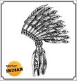 american indian chief headdress vector image vector image