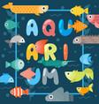 aquarium fish typographic poster vector image vector image