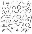 arrow icons set of black arrows vector image vector image